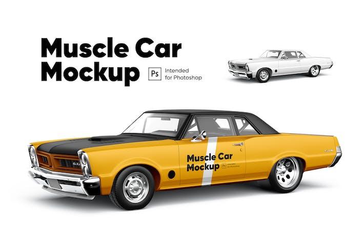 Thumbnail for Muscle Car Mockup