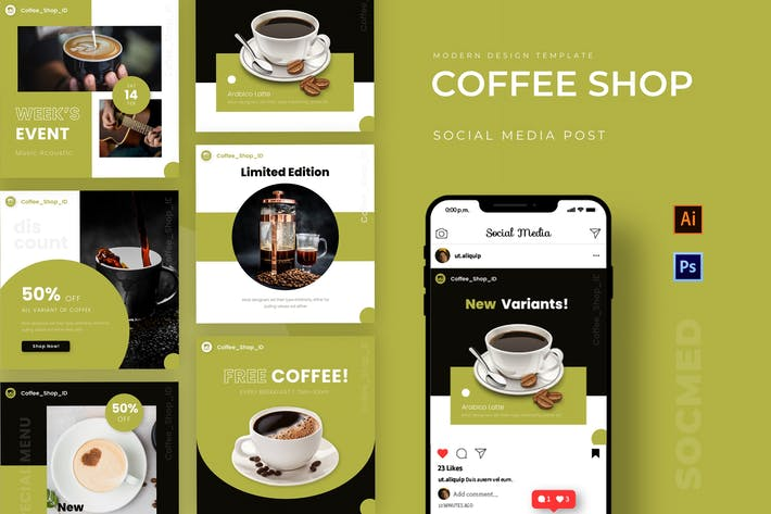 Thumbnail for Coffe Shop Instagram Post