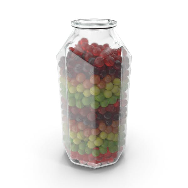 Octagon Jar with Spherical Hard Candy