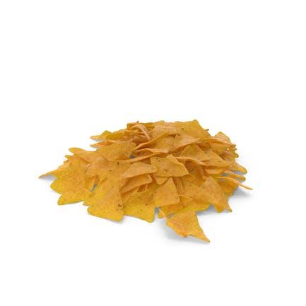 Pile Of Corn Tortilla Nacho Chips