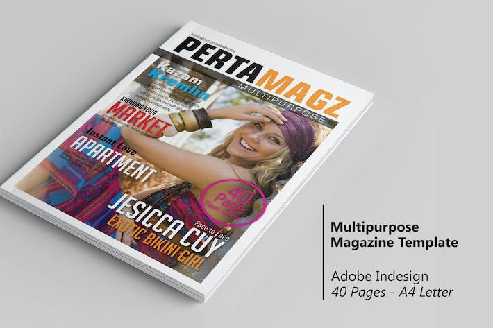 Thumbnail for Pertamagz - InDesign Magazine Template