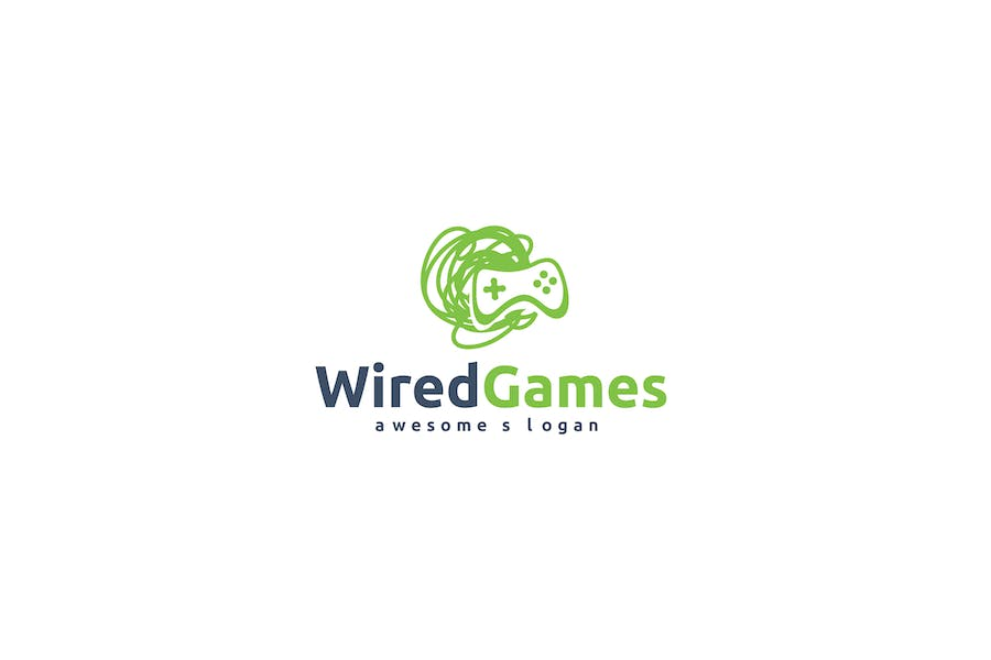 Wired Games Logo Template
