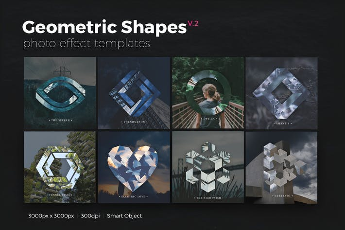 Thumbnail for Geometric Shapes Photo Templates v2