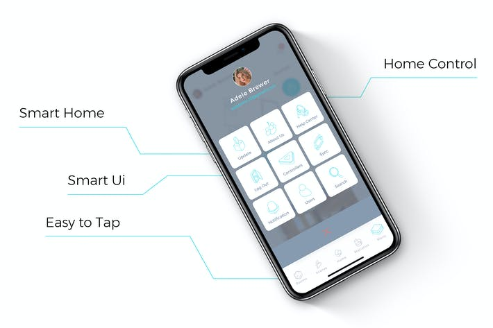 Thumbnail for SmartHome Menu Mobile Ui  - TH