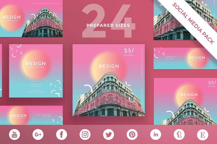 Thumbnail for Architecture Forum Social Media Pack Template