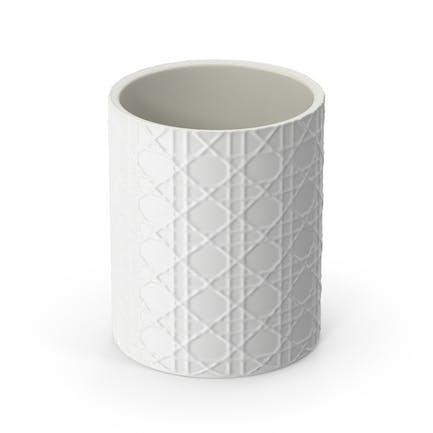 White Pisa Waste Basket