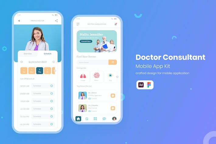 Thumbnail for UI Mobile Kit Doctor Consultation
