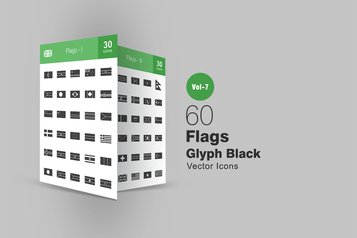 Thumbnail for 60 Flags Glyph Icons