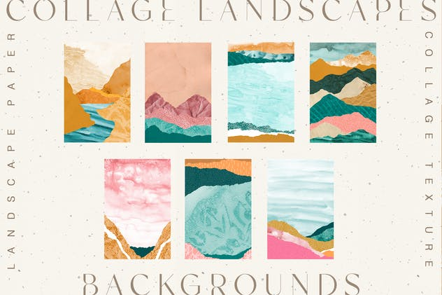 Collage Landscape Textures