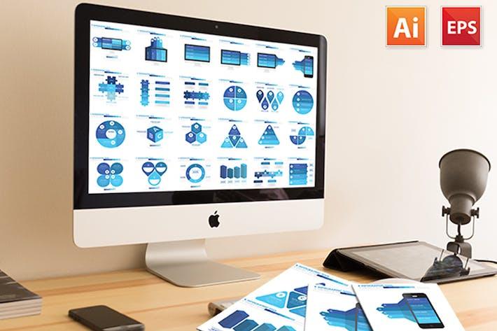 Thumbnail for Синий дизайн Инфографика