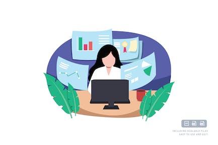 Geschäftsfrau - IlustrationsVorlage