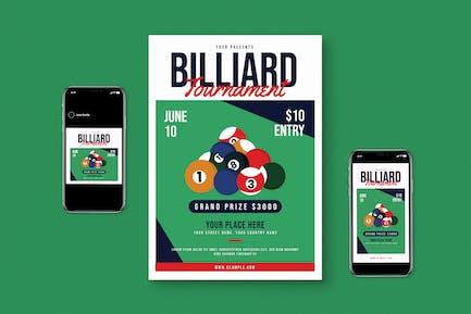 Billiard Flyer Set