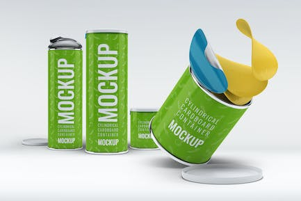Cylindrical Cardboard Container Mock-Up