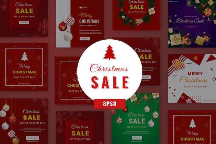 Thumbnail for Christmas Sale Social Media Banner B18