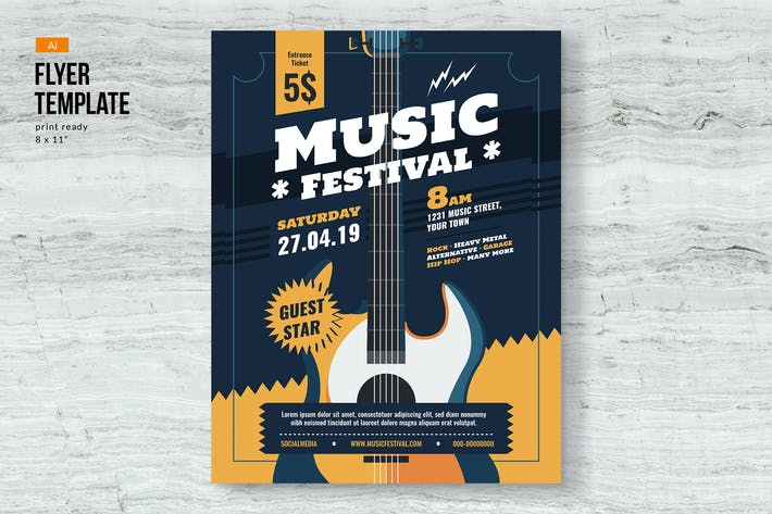 Thumbnail for Music Event Festival Flyer Template