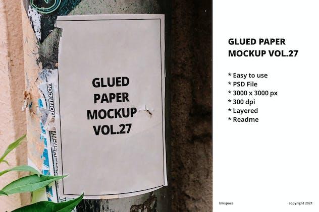 Glued Paper Mockup Vol.27