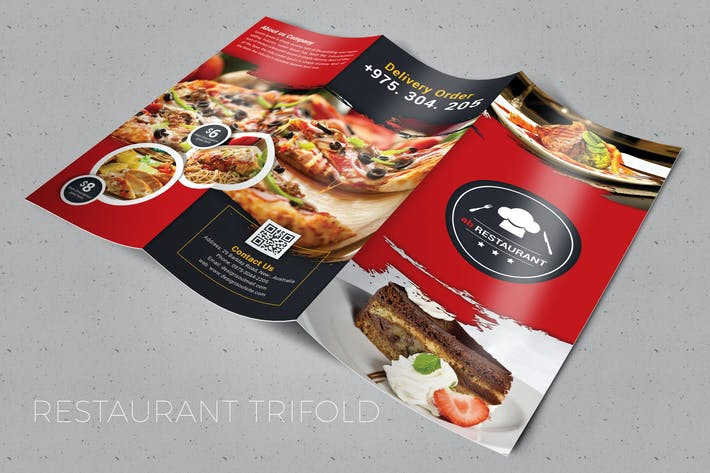 Thumbnail for Restaurant Trifold Brochure