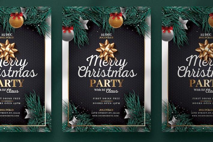 Thumbnail for Black & Golden Christmas Flyer Template
