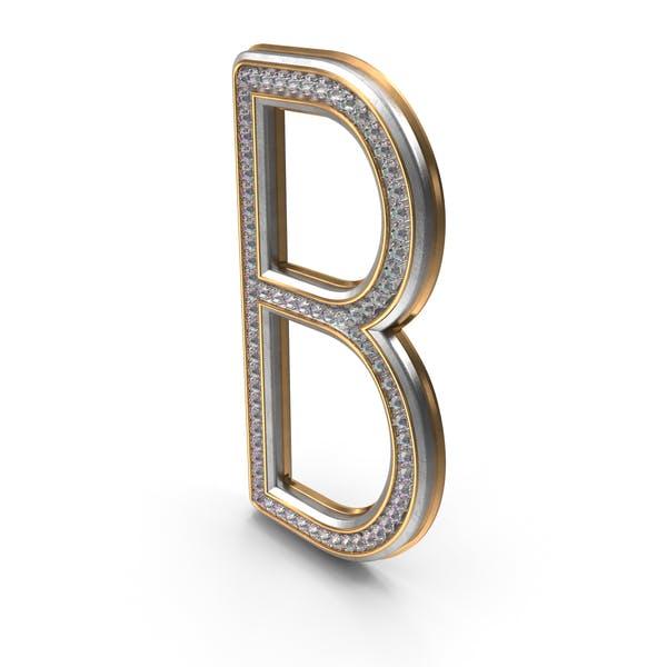 Letra Bling Diamonds B