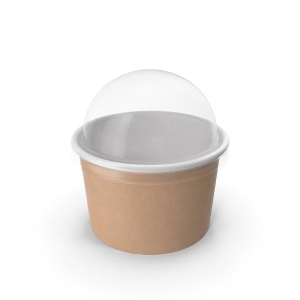 Крафт-бумага Food Cup с прозрачной крышкой для десерта 6 унций 150 мл