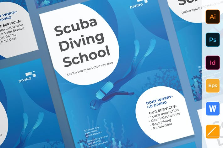 Thumbnail for Diving School Poster