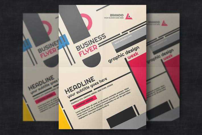 Thumbnail for Creative Retro Corporate Flyer Template