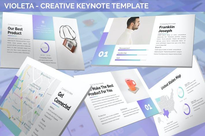 Thumbnail for Violeta - Creative Keynote Template