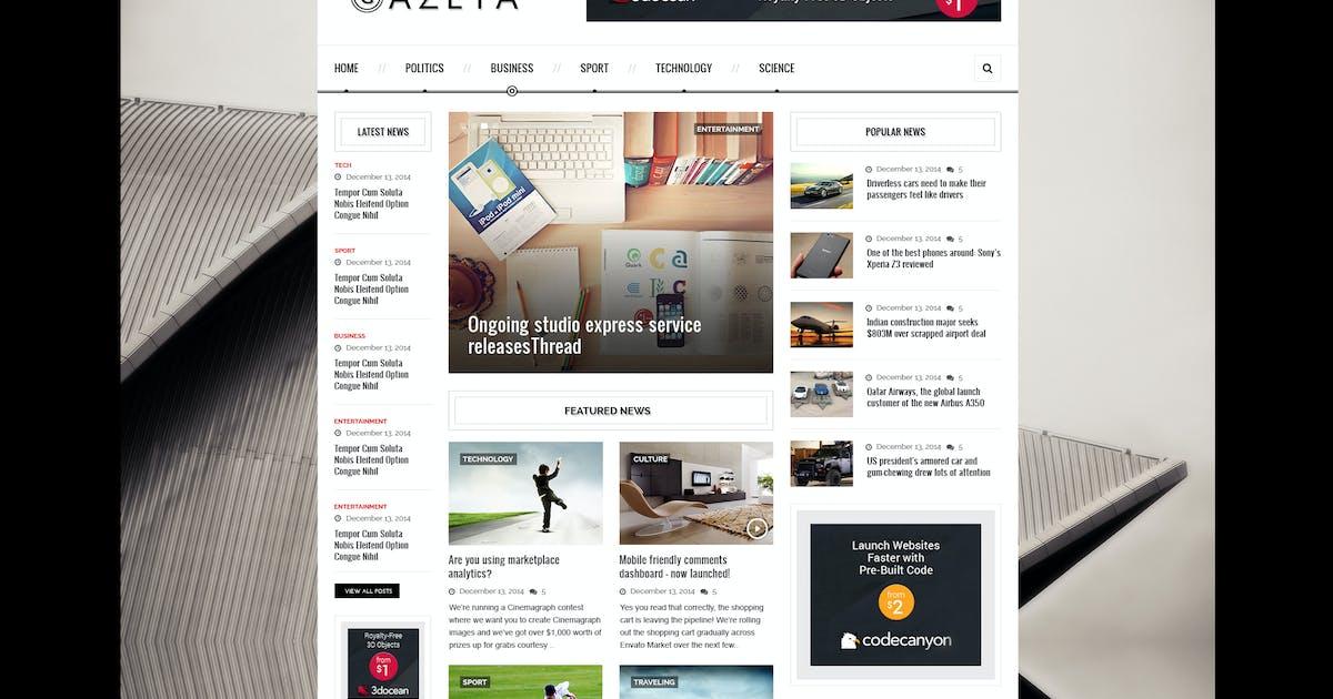 Download Gazeta 2 - Responsive News HTML Template by PremiumLayers