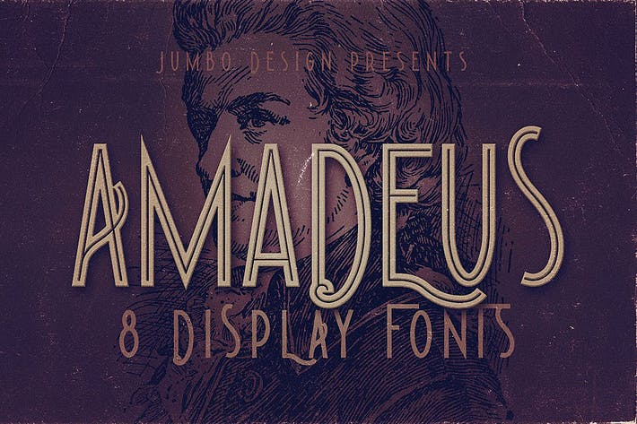 Thumbnail for Amadeus - Display Font