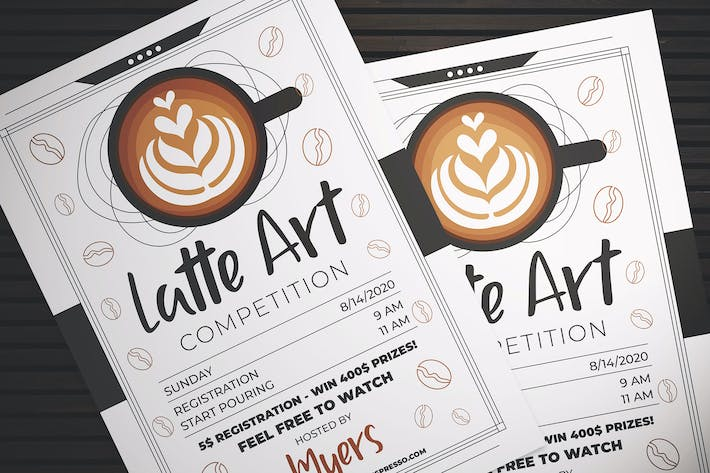 Thumbnail for Latte Art Competition Flyer