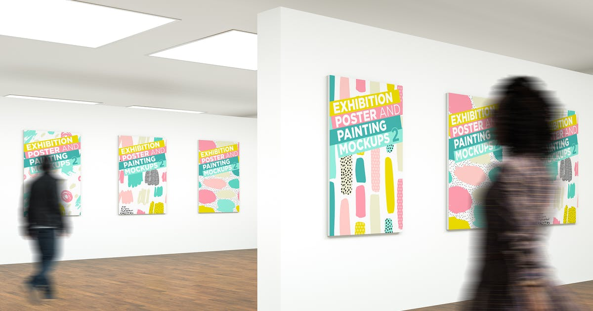 Download Exhibition Poster and Painting Mock-Ups V2 by traint