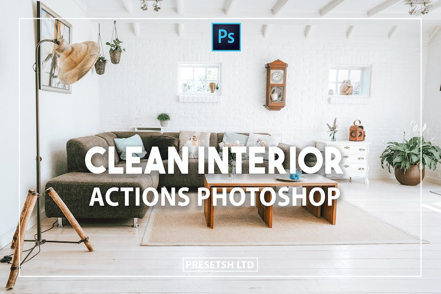 Clean Interior Photoshop Actions