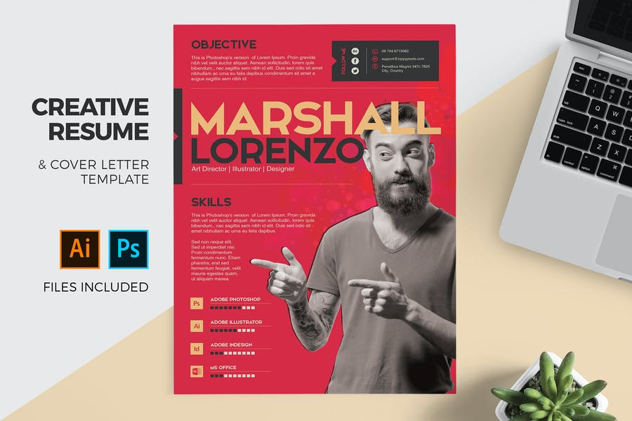 Creative Resume Cover Letter Template By Zippypixels On Envato Elements