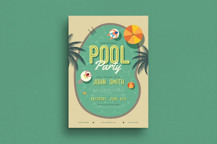Cover Image For Summer Pool Party Flyer