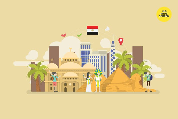 Thumbnail for Egypt Tourism Landmark Vector Concept