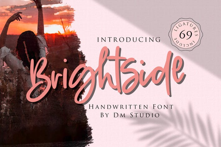 Thumbnail for Brightside - Fuente de pincel manuscrita