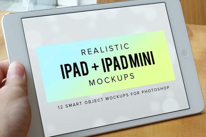 Thumbnail for 12 Realistic iPad & iPad Mini Mockups