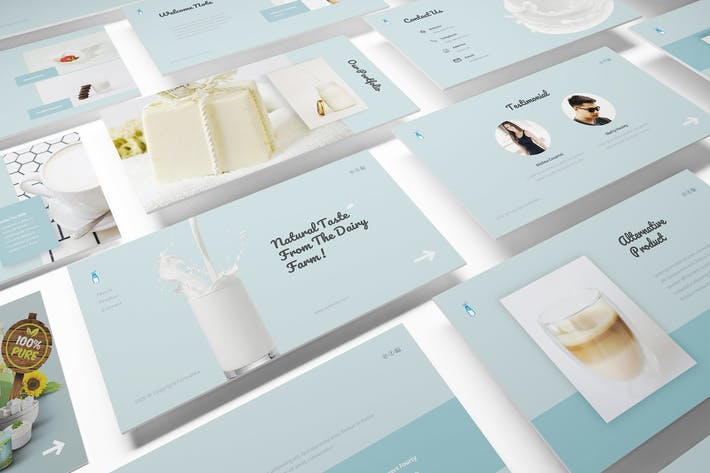 Thumbnail for Fresh Milk Powerpoint Template