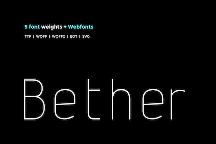 Bether Sans - WebFont with 5 weights