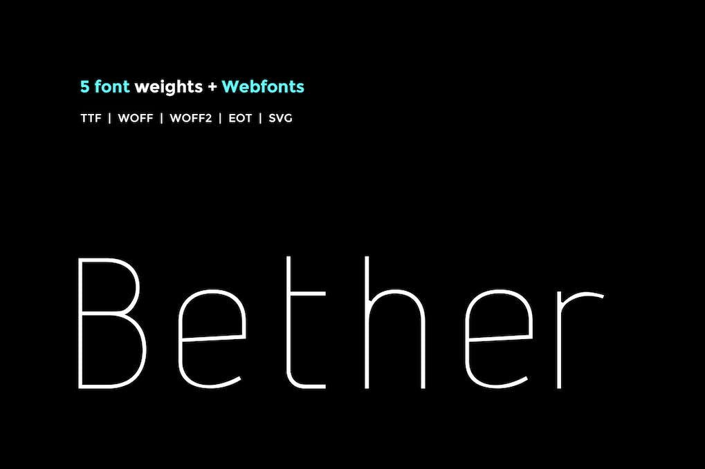 Download Download Bether Sans WebFont with 5 weights for free