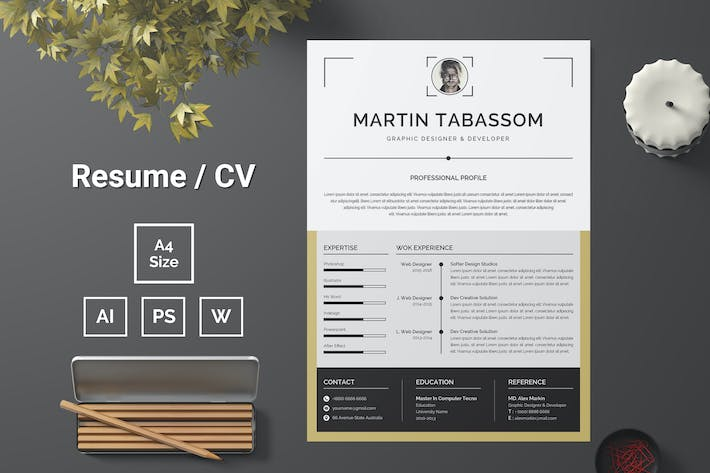 Thumbnail for Resume Template 95