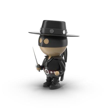 Cartoon Zorro Character