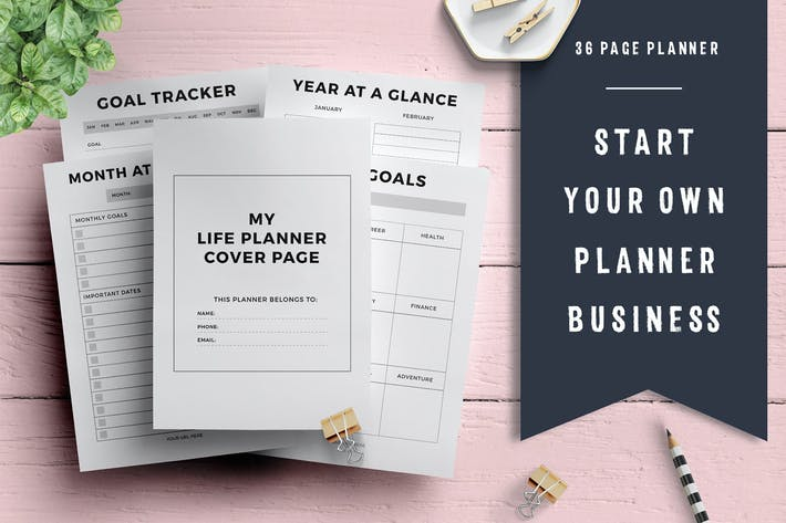 Thumbnail for Life Planner Template (36 pages)