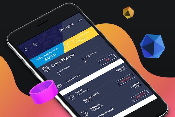 Thumbnail for Finance 2 Mobile Ui - H