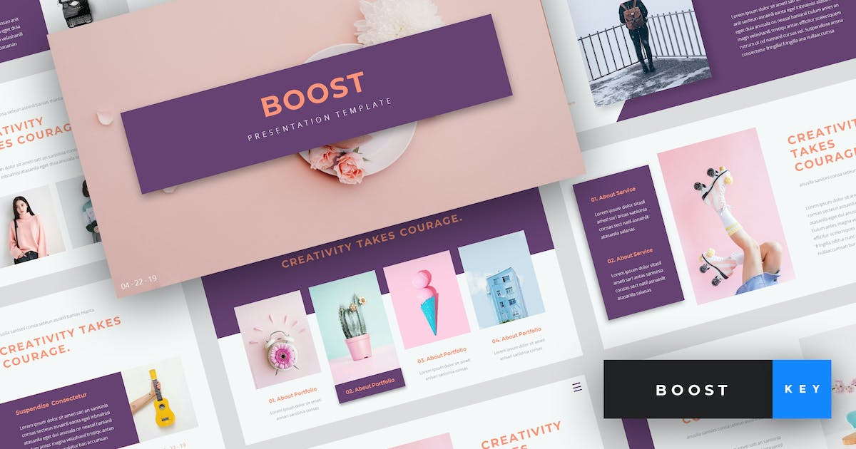 Download Boost - Creative Keynote Template by StringLabs