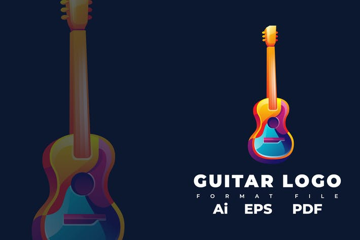 Thumbnail for Guitar Logo Template