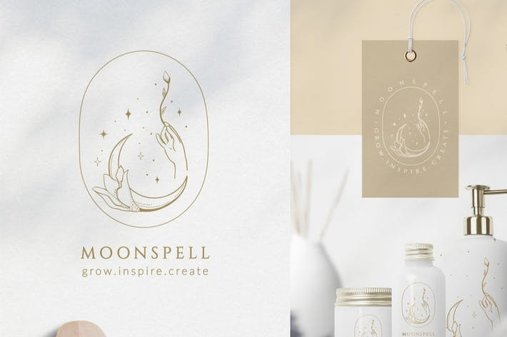 Premade Moon Brand Logo and Packaging Design.