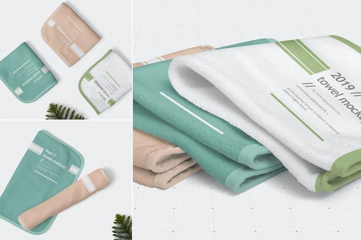 Thumbnail for Hand Towel Mockups
