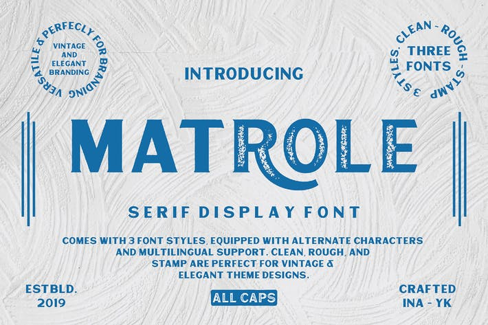 Thumbnail for Matrole Serif Display Font