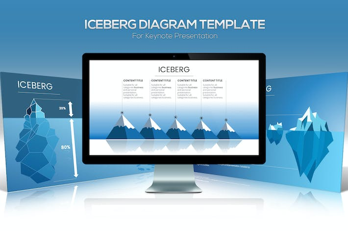 Thumbnail for Iceberg Diagram Keynote Template